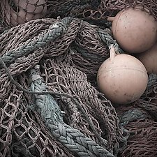 Fishing Net #1 by Steven Keller (Color Photograph)