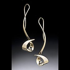 Sweep Earrings by Stephen LeBlanc (Gold or Silver Earrings)