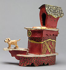 Dog House by Byron Williamson (Ceramic Sculpture)