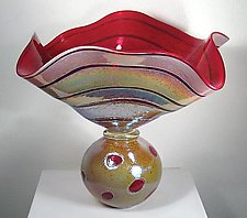 Golden Gem Double by Cristy Aloysi and Scott Graham (Art Glass Bowl)