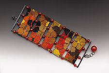 Autumn Poppies by Julie Long Gallegos (Beaded Bracelet)