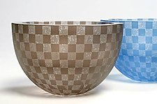 Checkerboard Bowl by Penelope Wurr (Art Glass Bowl)