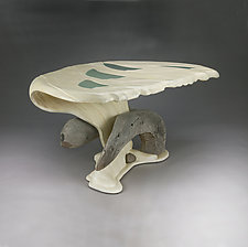 Oyster Shell Table by Aaron Laux (Wood Dining Table)