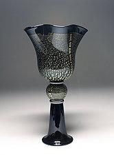Black and Gold Vessel by Scott Summerfield (Art Glass Sculpture)