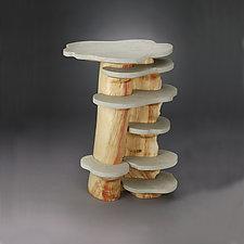 Stone Shelf by Aaron Laux (Wood Side Table)