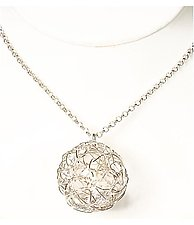Woven Ball Necklace by Gillian Batcher (Silver & Stone Necklace)