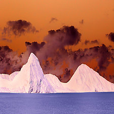 Pitons by Marcie Jan Bronstein (Color Photograph)
