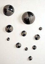 Surveyor Wall Balls by Larry Halvorsen (Ceramic Wall Sculpture)