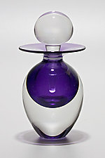 Egg Perfume Bottle: Grape by Michael Trimpol and Monique LaJeunesse (Art Glass Perfume Bottle)