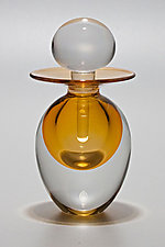Egg Perfume Bottle: Sunshine by Michael Trimpol and Monique LaJeunesse (Art Glass Perfume Bottle)