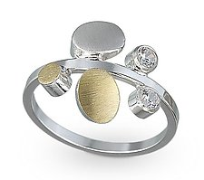 Petal Ring by Elizabeth Garvin (Gold, Silver & Stone Ring)
