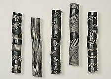 Gloss Tube Sculptures by Larry Halvorsen (Ceramic Wall Sculpture)