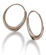 Large Annalee earrings by Britt Anderson (Gold Earrings)