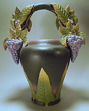 Grape Vessel by Nancy Y. Adams (Ceramic Vessel)