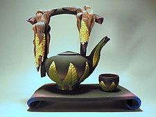 Spirit Corn Teaset by Nancy Y. Adams (Ceramic Teapot)