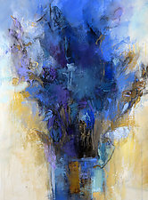 Blue Bouquet by Debora  Stewart (Acrylic Painting)