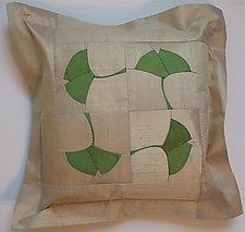 Ginkgo Pillow by Sonya Lee Barrington (Silk Pillow)