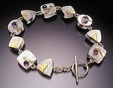 Bracelet by Idelle Hammond-Sass (Silver, Gold & Stone Bracelet)