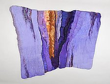 Rockface/Dawn by Sharron Parker (Fiber Wall Art)