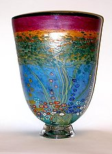 Sunset Forest Vase by Ken Hanson and Ingrid Hanson (Art Glass Vase)