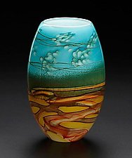 Small Landscape Vase by John & Heather  Fields (Art Glass Vase)