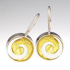 Swirl Earrings by Victoria Varga (Gold & Silver Earrings)