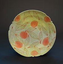 Platter with Oranges by Lauren Kearns (Ceramic Platter)