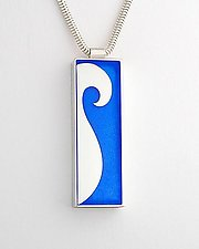 Wave Pendant by Victoria Varga (Silver & Resin Pendant)