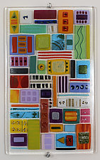 Signs and Symbols - Open for Interpretation by Mary Johannessen (Art Glass Wall Art)