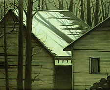 Woodshed by Mary Jo Van Dell (Oil Painting)