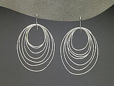Ripple Earrings by Heather Guidero (Silver Earrings)