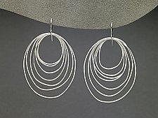 Ripple Earrings by Heather Guidero (Silver Earrings)