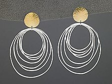 Ripple Post Earrings by Heather Guidero (Silver & Gold Earrings)