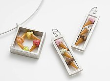 Ice Cream Suite by Carolyn Tillie (Silver & Polymer Clay Necklace & Earrings)