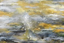 Atmosphere in Gold and Silver by Stephen Yates (Acrylic Painting)