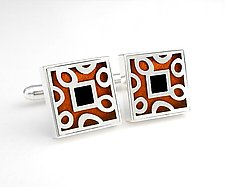 Spots and Dots cuff links by Victoria Varga (Silver & Resin Cuff Links)