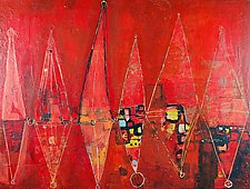 Red Row by Barbara Gilhooly (Acrylic Painting)
