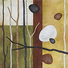 Sticks and Stones 44 by Glenys Porter (Acrylic Painting)