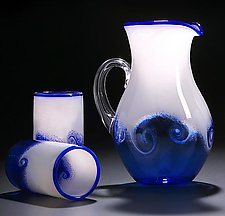 Wave Pitcher & Cups by Michael Richardson, Justin Tarducci and Tim Underwood (Art Glass Pitcher and Cups)