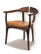 Swallowtail Chair in Walnut by Brian Fireman (Wood Chair)
