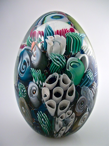 Ocean Reef Paperweight Egg