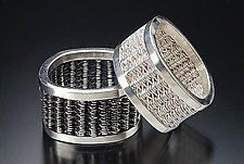 Square Woven Rings by Linda Bernasconi (Silver Ring)