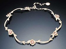Flower Collar (Silver) by Kathleen Lynagh (Silver & Pearl Necklace)