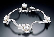 Flower Bracelet by Kathleen Lynagh (Silver & Pearl Bracelet)