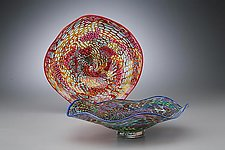 Murrini Wave Bowl by Scott Simmons (Art Glass Bowl)