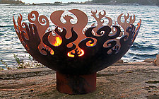 The Great Bowl O' Fire by John T. Unger (Metal Fire Pit)