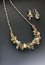 Aria Prehnite B04 by Sharmen Liao (Gold & Stone Necklace)