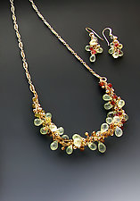Aria Prehnite Necklace by Sharmen Liao (Gold & Stone Necklace)