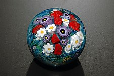 Landscape Series Rose Violet Paperweight by Shawn Messenger (Art Glass Paperweight)