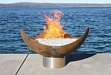 King Isosceles Sculptural Firebowl by John T. Unger (Metal Fire Pit)